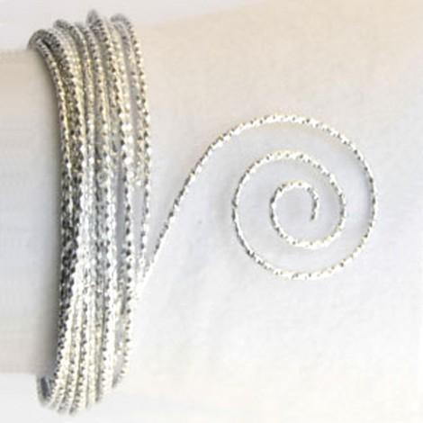 Filo alluminio tondo martellato Ø 2 mm - Argento