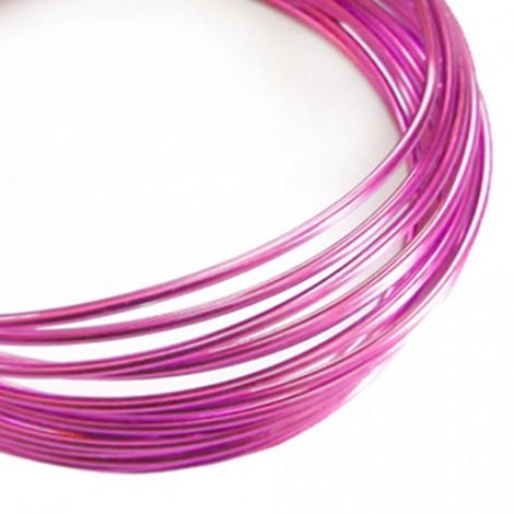 Filo alluminio tondo liscio Ø 2 mm - Rosa forte