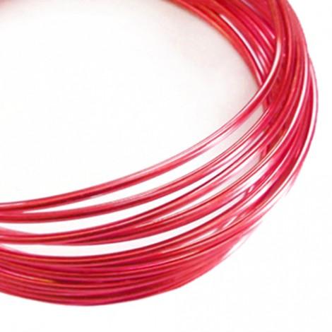 Filo alluminio tondo liscio Ø 2 mm - Rosso