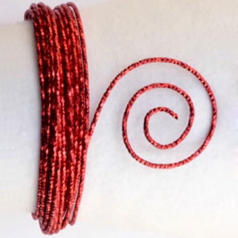 Filo alluminio tondo martellato Ø 2 mm - Rosso