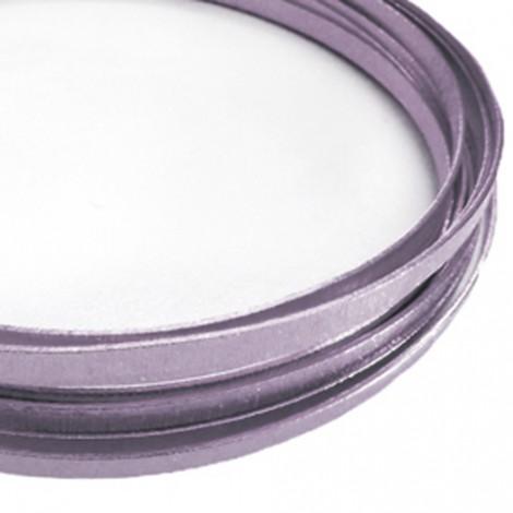 Filo alluminio piatto liscio 3,5 x 1 mm - Lavanda