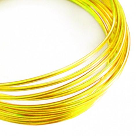 Filo alluminio tondo liscio Ø 2 mm - Giallo oro