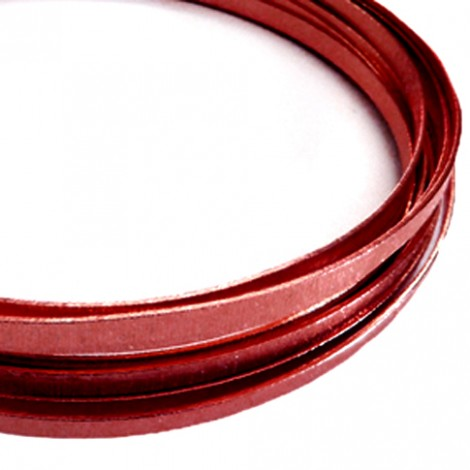 Filo alluminio piatto liscio 3,5 x 1 mm - Rosso scuro
