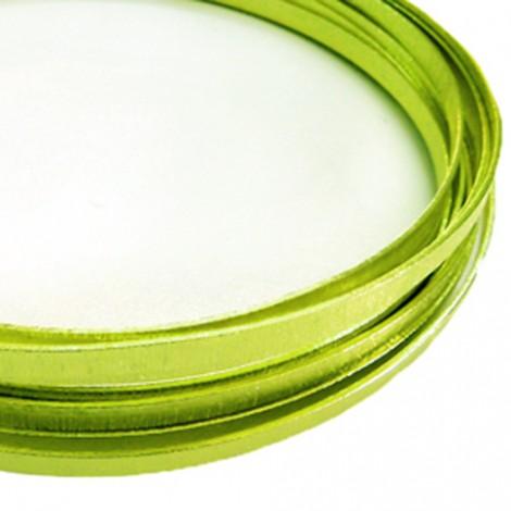 Filo alluminio piatto liscio 3,5 x 1 mm - Verde chiaro