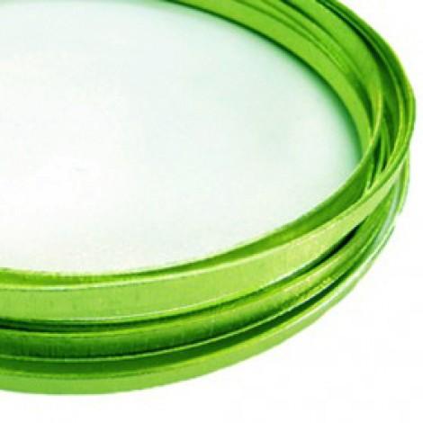 Filo alluminio piatto liscio 5 x 1 mm - Verde