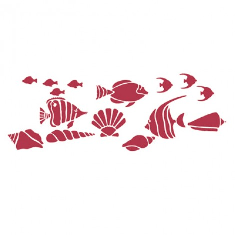 Stencil stamperia pesciolini per decoupage