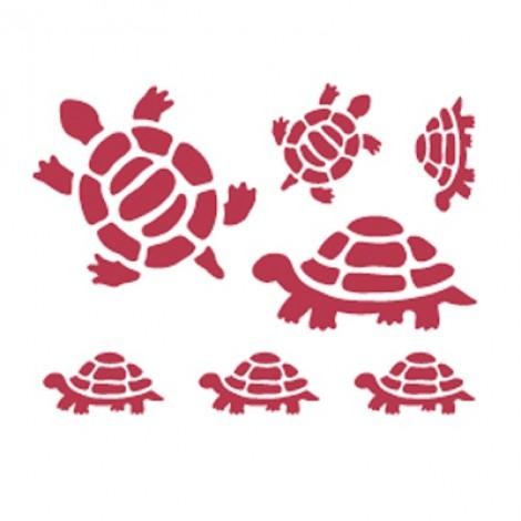 Stencil stamperia tartarughe per decoupage
