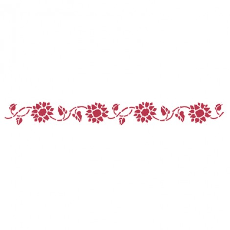 Stencil stamperia bordura girasoli per decoupage