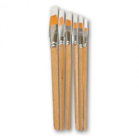 Kit pennelli linea Basic economica con manico in legno