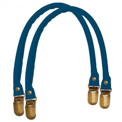 Manici in similpelle a bretella per borse colore blu