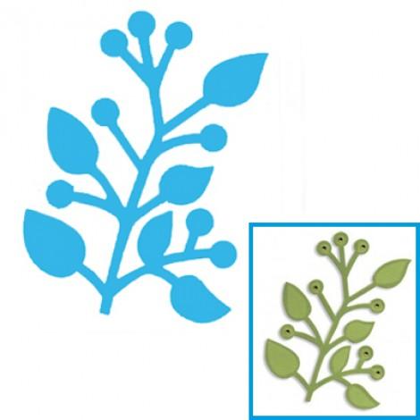 Fustella per Big Shot Sizzix ramo con foglie