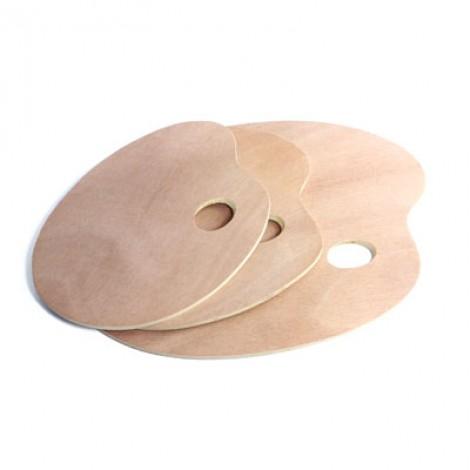 Tavolozza in legno ovale per pittura