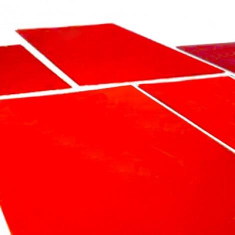 Clichè tampografici in fotopolimero rosso. Confezioni da 10 pezzi.