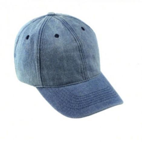 Cappellino da Baseball in jeans, 6 pannelli. Confezione da 10 pezzi.
