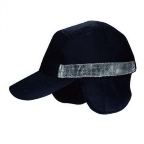 Cappello con copriorecchie con nastro GP 440 reflexite. Confezione da 10 pezzi.
