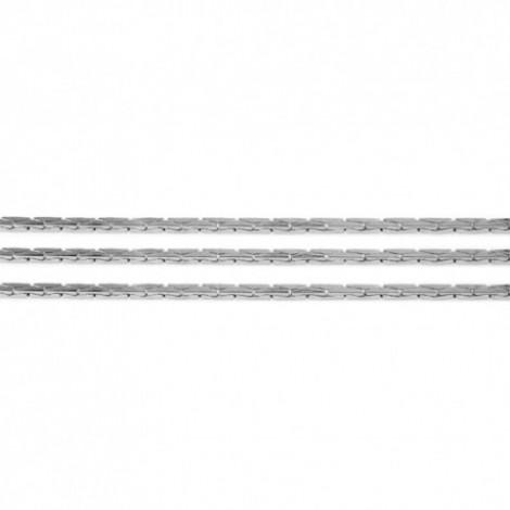Catenina cobra in argento 925 rodiato 0.8 mm - 1mt