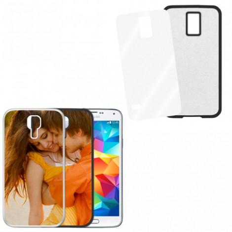 Cover nera con piastrina stampabile - Samsung Galaxy S5 Mini