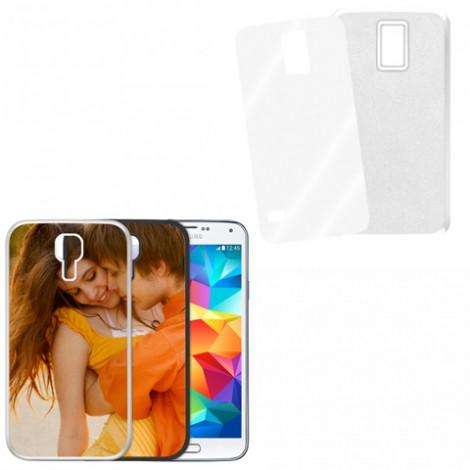 Cover bianca con piastrina stampabile - Samsung Galaxy S5 Mini
