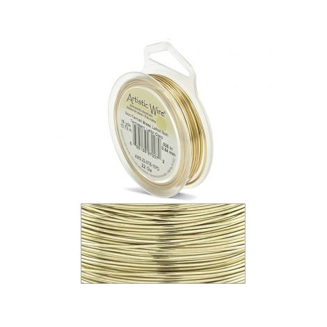 Filo artistic wire non tarnish brass (oro) Ø 0.64mm - 13.7m