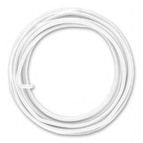 Filo alluminio tondo liscio Ø 2 mm - Bianco