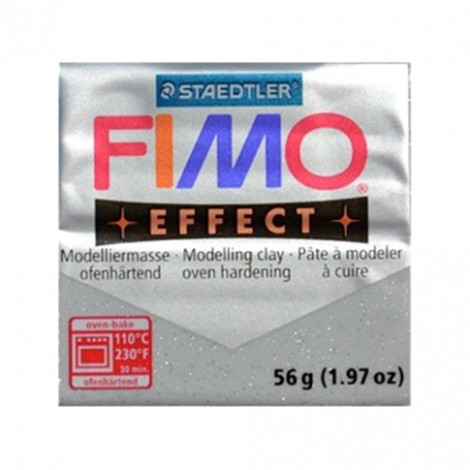 FIMO EFFECT GLITTER ARGENTO 812 - 56 GR