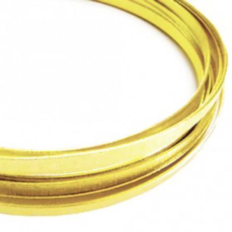 Filo alluminio piatto liscio 3,5 x 1 mm - Oro chiaro