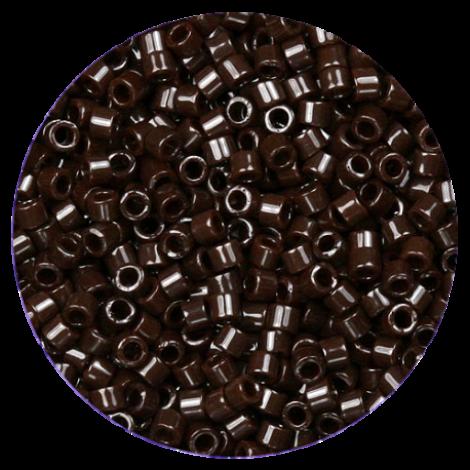 Perline in vetro Miyuki Delica Opaque Chocolate Brown 11/0 - 10g