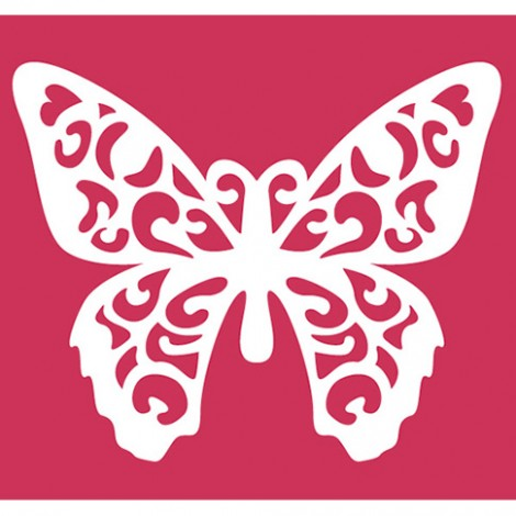 Doppio Stencil 25x21 cm - Farfalla