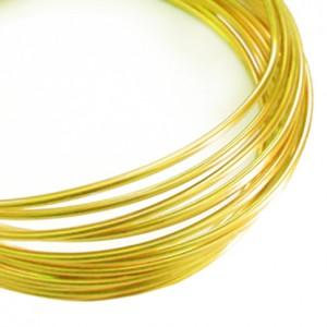 Filo alluminio tondo liscio Ø 2 mm - Oro