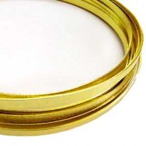 Filo alluminio piatto zigrinato 3,5 x 1 mm - Oro