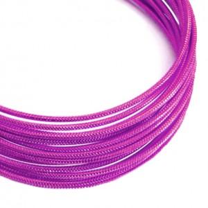 Filo alluminio tondo zigrinato Ø 2 mm - Rosa forte