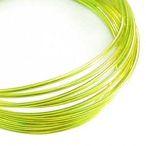 Filo alluminio tondo liscio Ø 2 mm - Verde mela