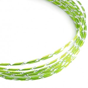 Filo alluminio tondo diamantato Ø 2 mm - Verde mela