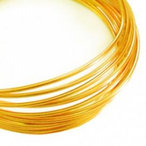 Filo alluminio tondo liscio Ø 2 mm - Rame dorato