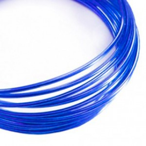 Filo alluminio tondo liscio Ø 2 mm - Blu Zaffiro