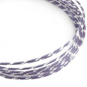 Filo alluminio tondo diamantato Ø 2 mm - Lilla chiaro