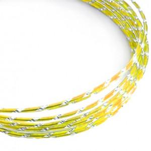 Filo alluminio tondo diamantato Ø 2 mm - Giallo sole