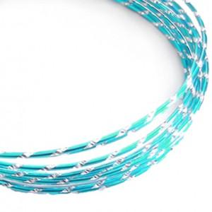 Filo alluminio tondo diamantato Ø 2 mm - Blu ghiaccio