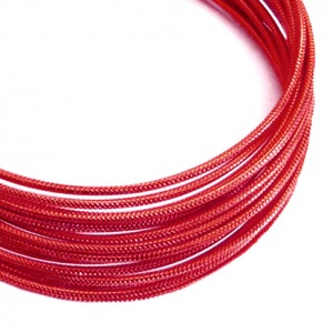 Filo alluminio tondo zigrinato Ø 2 mm - Rosso scuro