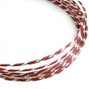 Filo alluminio tondo diamantato Ø 2 mm - Rosso scuro