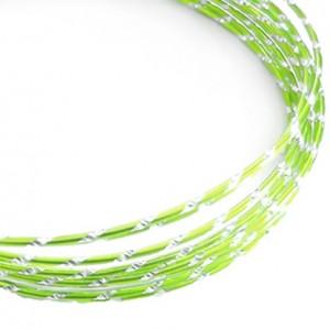 Filo alluminio tondo diamantato Ø 2 mm - Verde menta