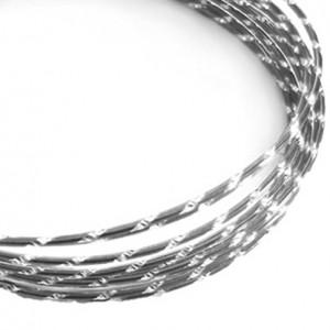 Filo alluminio tondo diamantato Ø 2 mm - Grigio