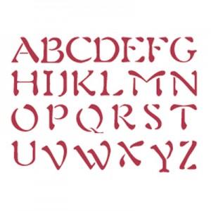 Stencil stamperia alfabeto maiuscolo per decoupage