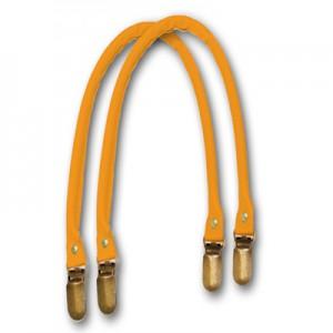 Manici in similpelle a bretella per borse colore arancio