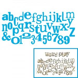 Fustella per Big Shot Sizzix lettere alfabeto e numeri