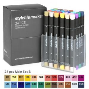 Pennarelli Stylefile Marker 24 pezzi set B