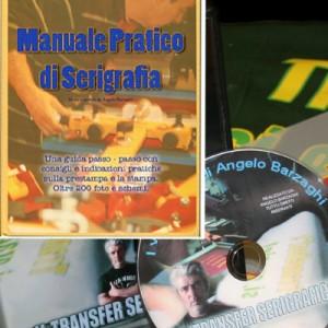 DVD+MANUALE: IL TRANSFER SERIGRAFICO + MANUALE PRATICO DI SERIGRAFIA