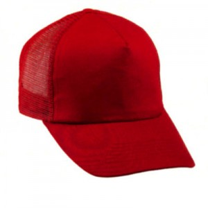 Cappellino da Baseball 5 pannelli con retina. Confezione da 10 pezzi.