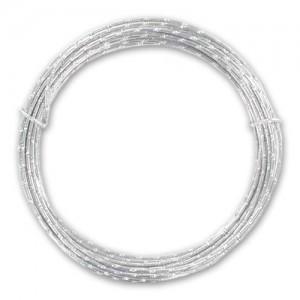 Filo alluminio tondo diamantato Ø 2 mm - Argento