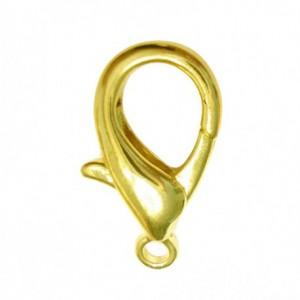 Chiusura moschettone color oro 18x9 mm - 10pz